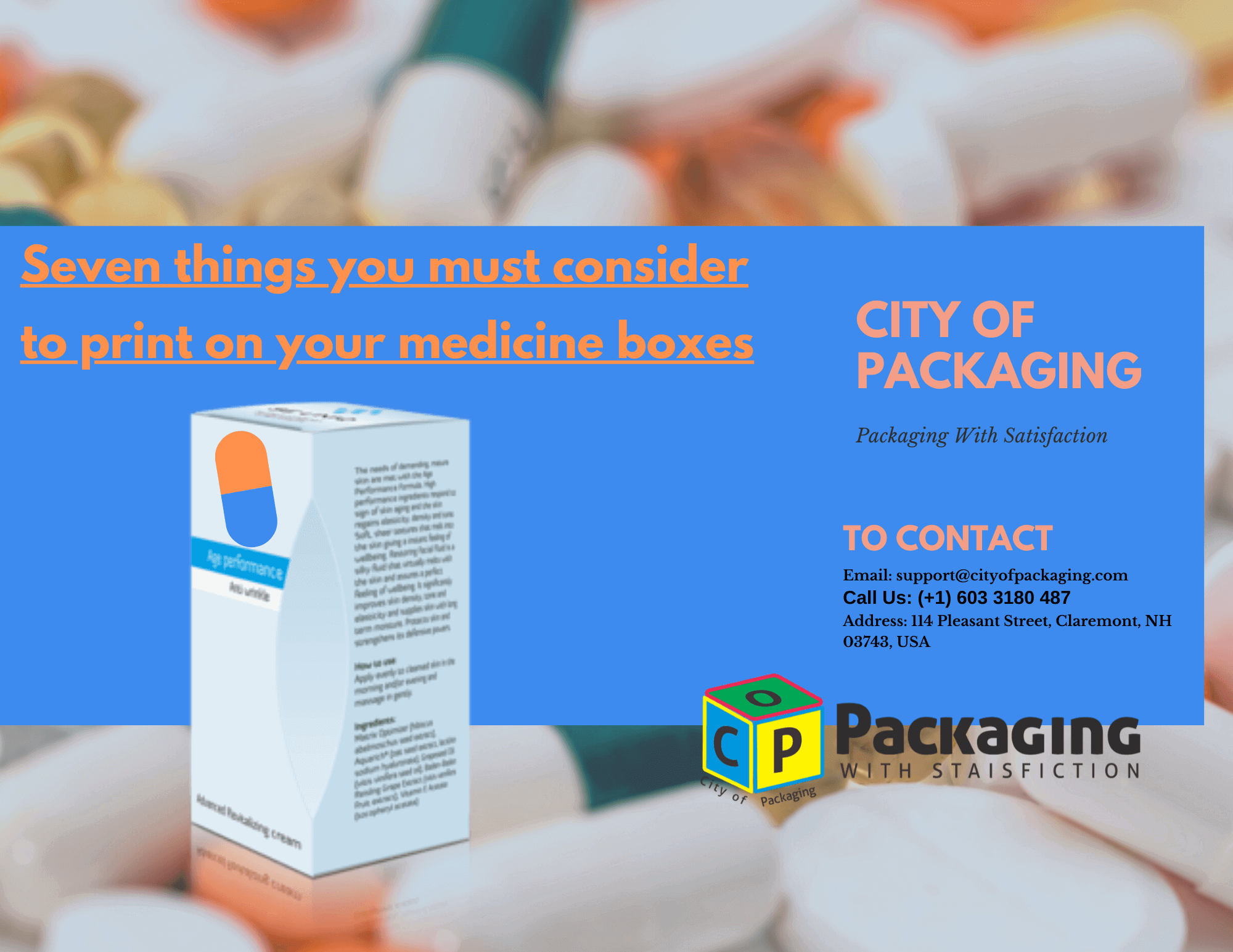Seven things you must consider to print on your medicine boxes