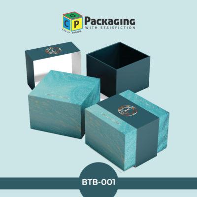blue turquoise foil boxes