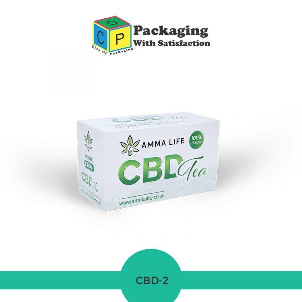 CBD health tea box made up of cardboard