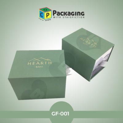 green foil box