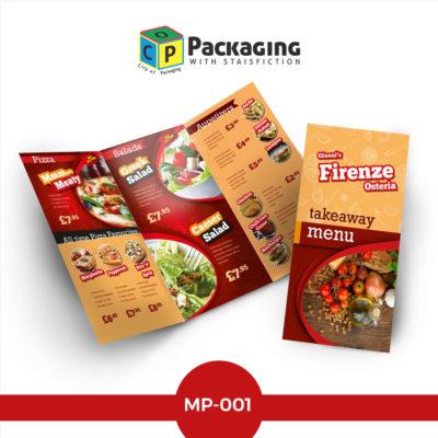 menus-printing