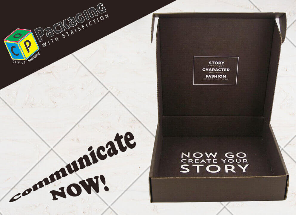 communicate with your customers by custom printed boxes
