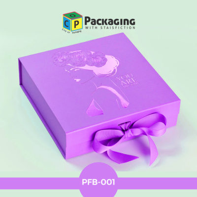 purple foil box
