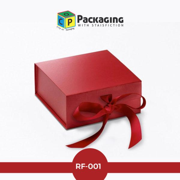 red-foil box