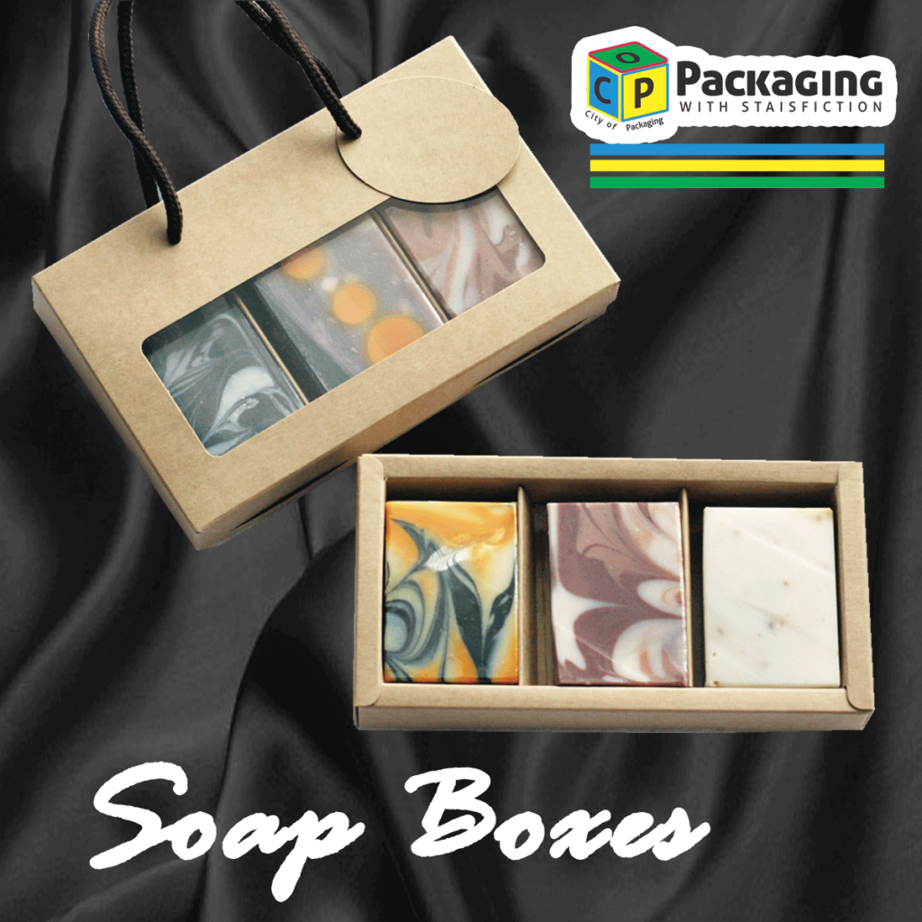 Kraft made 3-piece tray box, significance-of-soap-boxes